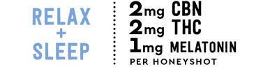 Relax + Sleep 3mg CBN, 2mg THC, 1mg Melatonin per HoneySh9ot